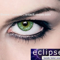 Eclipse Color Green Contact Lenses - for a green eye color