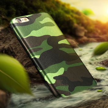 KISSCASE Camouflage Case For Iphone 5 5s 6 6s 7 Plus Military Camo Men Case Cover Slim Soft Acrylic Back Cover For Iphone 5 6s 7