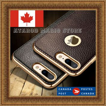 Luxury Ultra-thin PU Leather Soft Phone Case for iPhone 6 7 8 / 6 7 8 Plus / X