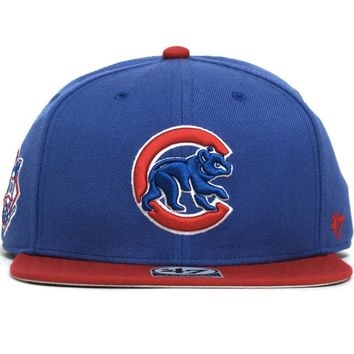 Chicago Cubs Sure Shot Two-Tone Snapback Hat Blue / Red