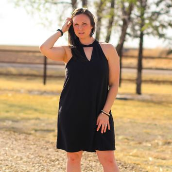 Alamo Choker Dress in Black