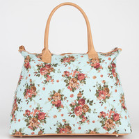 Floral Canvas Tote Bag Mint One Size For Women 20916452301