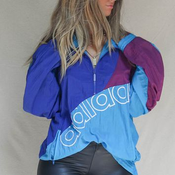 VINTAGE 90s Color Block Adidas Windbreaker