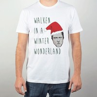 White T-Shirt | Funny Christopher Walken Christmas Holiday Shirts