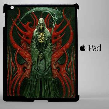 grim reaper death skull symbol iPad 2, iPad 3, iPad 4, iPad Mini and iPad Air Cases - iPad