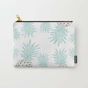 Pineapple Pattern Carry-All Pouch by ES Creative Designs