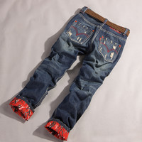 Pants Fashion Ripped Holes Jeans [6541743939]