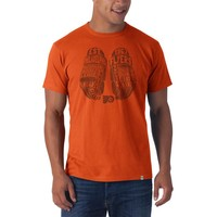'47 Brand Philadelphia Flyers Mens Short Sleeve Fashion T-Shirt - Orange