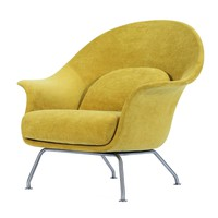 Chiara Accent Chair Brushed Stainless Steel Legs, Citrus Garden