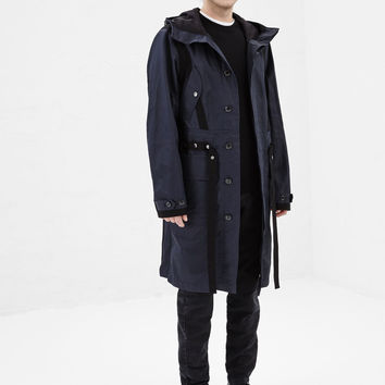 Totokaelo - Dries Van Noten Navy Valley Parka - $1,570.00