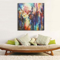 Modern Abstract Canvas Painting Frameless Wall Art Bedroom Living Room Home Decor 50*50cm