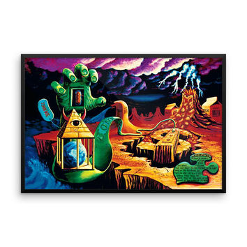 Framed PHOTO paper poster trippy surrealism by VIncent Monaco