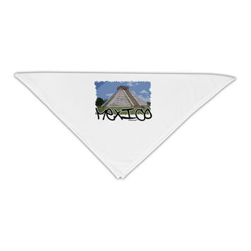"""Mexico - Mayan Temple Cut-out Adult 19"""" Square Bandana"""