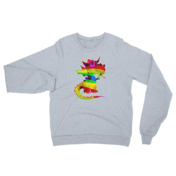 Draco Rainbow Raglan sweater