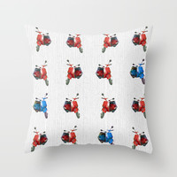 Vespa Throw Pillow by anipani