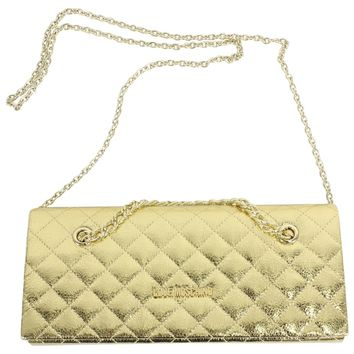 Love Moschino Women's Quilted Chain Crossbody Envelope Clutch Handbag