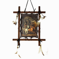 Wooden Frame Indian Picture