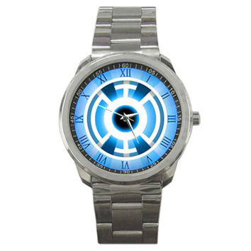 New hot Green Lantern DC Comics Blue Universe Power Rings Sport Metal Watch