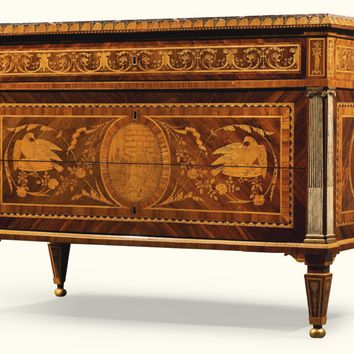 An Italian Neoclassical rosewood, tulipwood, sycamore, amaranth, fruitwood and marquetry commode attributed to Gaspare Bassani, Milan,circa 1790 | lot | Sotheby's