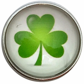 3 Leaf Clover Snap 20mm for Snap Jewelry