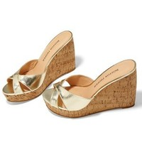 Cross band cork wedge - Boston Proper