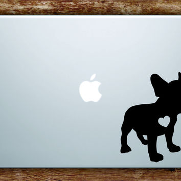 Dog Heart V 1 Laptop Apple Macbook Quote Wall Decal Sticker Art Vinyl Car Window Animals Puppy Love French Bulldog