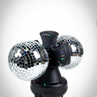 LED Twin Disco Ball Light