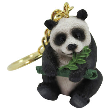 Zoo Animal Panda Figurine 3D Keychain