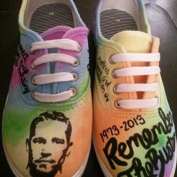 b6744d1f9ff Paul Walker Tribute Hand Painted Custom Made Shoes Fast and Furious RIP Converse  Vans Toms