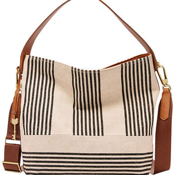 Fossil Maya Striped Medium Hobo | macys.com