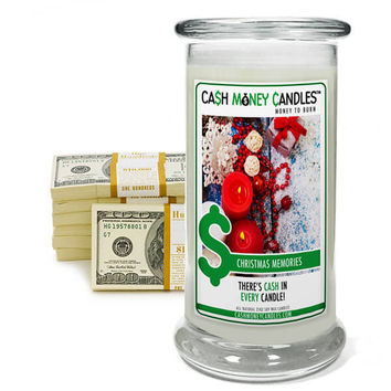 Christmas Memories Cash Money Candles
