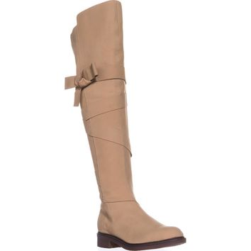 Kelsi Dagger Brooklyn Colby Over The Knee Boots, Ginger Leather, 8.5 US