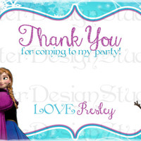Frozen Thank You Birthday Card - Digital Printable File