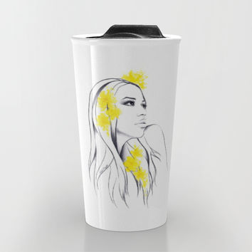 Yellow Travel Mug by EDrawings38 | Society6