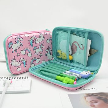 Pencil Case Estuche Escolar Kalem Kutusu Etui EVA Pencilcase Large Box Cartoon School Lapices Kawaii Cake Unicorn Pen Boys Girls