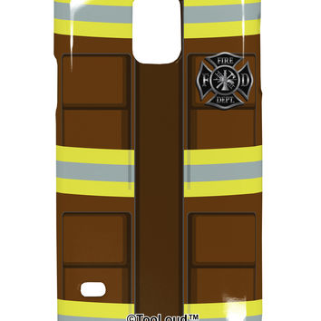 Firefighter Brown AOP Samsung Galaxy S5 Plastic Case All Over Print