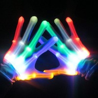 LED Glow Skeleton Rave Gloves