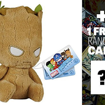Groot: Funko Mopeez x Marvel Universe Plush Figure Series + 1 FREE Official DC Trading Card Bundle [55851]