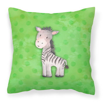 Polkadot Zebra Watercolor Fabric Decorative Pillow BB7377PW1818
