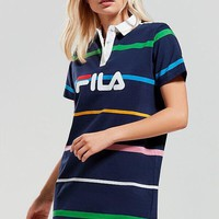 Fila Women Colored Stripe Polo Shirt Dress