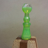 Slime chillum glass pipe