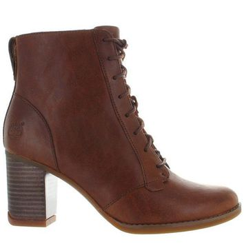 Timberland Earthkeepers Atlantic Heights Lace   Brown Leather Lace Up Chukka Boot