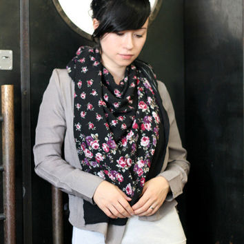 15% OFF oversized SCARF - imperfect Gypsy roses Print