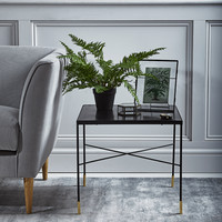 Iron & Brass Side Table