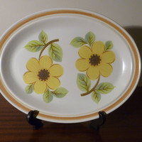 """Vintage 1973 Royal Doulton """"Summer Days"""" Collection Serving Platter / Lambeth Stoneware / Retro Plate / Made in England"""