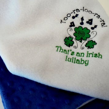Irish Lullaby fleece baby blanket - Trinity Crossing