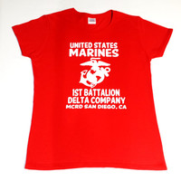 Family Day, Graduation Day Customized Marine Corps Jersey Style T-Shirt, Boot Camp, Platoon, Battalion, Company
