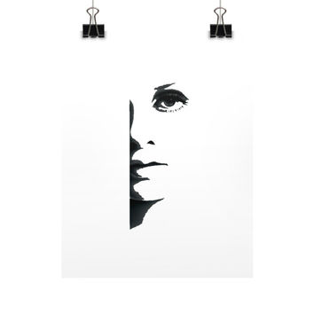 Half Face Fine Art Prints (Posters)