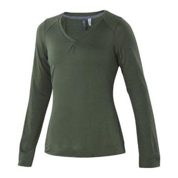 Women's Ibex U-Sixty Long Sleeve Sequoia | Overstock.com Shopping - The Best Deals on Juniors' Tops