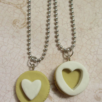 Golden Oreo cookie friendship necklaces